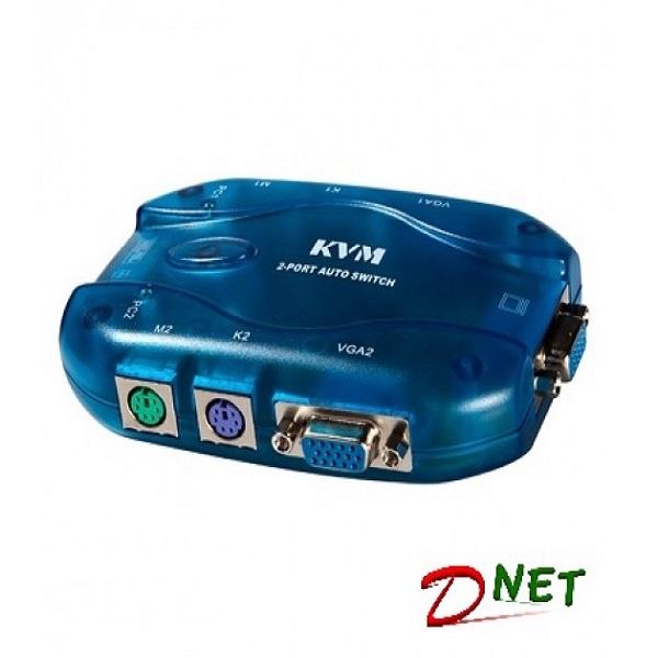 کی وی ام سوییچ 1 به 2 ( KVM SWITCH ) PS2 بدون کابل